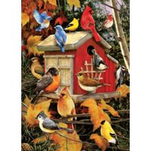 Пазл Cobble Hill, 1000 элементов - Осенний дом для птиц