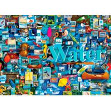 Пазл Cobble Hill, 1000 элементов - Коллаж стихий - Вода