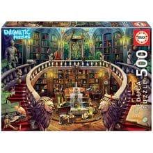 Пазл Educa, 500 элементов - Загадочный пазл - Старая библиотека