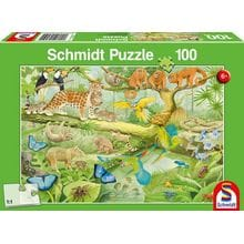 Пазл Schmidt, 100 элементов - Животные джунглей