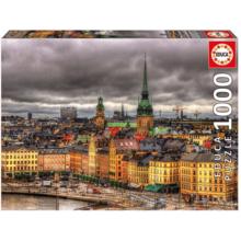 Пазл Educa, 1000 элементов - Вид на Стокгольм, Швеция