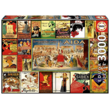 Пазл Educa, 3000 элементов - Коллаж оперных афиш