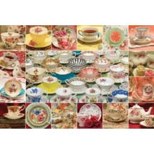Пазл Cobble Hill, 2000 элементов - Коллекция чайных чашек