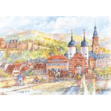 Пазл Adex, 1000 элементов - Гельдеберг, Замок и Старый мост, Alicja Nikiel