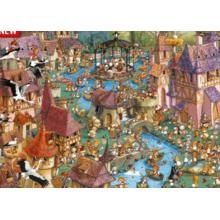Пазл Heye, 1000 элементов - Город кроликов, Ruyer