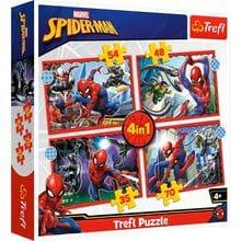 Пазл Trefl, 4в1 (35+48+54+70) элементов - Супергерой Человек-Паук