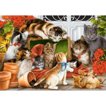 Пазл Castorland, 1500 элементов - Время кошачьих игр