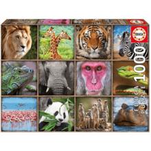 Пазл Educa, 1000 элементов - Коллаж. Дикие звери