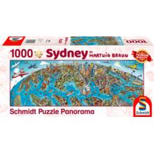 Пазл Schmidt, 1000 элементов - Хартвиг Браун: Панорама города - Сидней