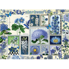 Пазл Cobble Hill, 1000 элементов - Коллаж синие цветы