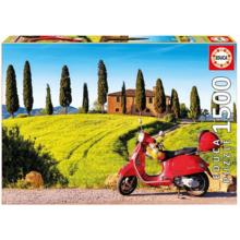 Пазл Educa, 1500 элементов - Скутер с Тоскане