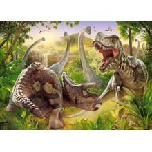 Пазл Castorland 180 элементов - Битва динозавров