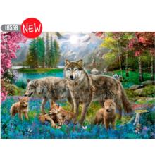 Пазл Trefl, 1000 элементов - Семья волков