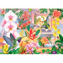 Пазл Cobble Hill, 500 элементов - Колибри и орхидеи