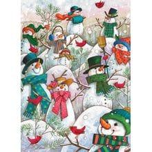 Пазл Cobble Hill, 500 элементов - Веселые снеговики
