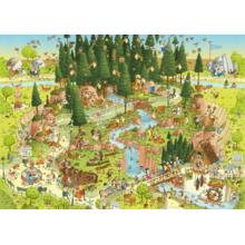 Пазл Heye, 1000 элементов - Лесной зоопарк