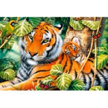Пазл Trefl, 1500 элементов - Два тигра