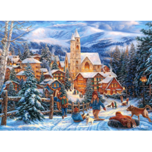 Пазл Castorland, 300 элементов - Снежная горка в городе