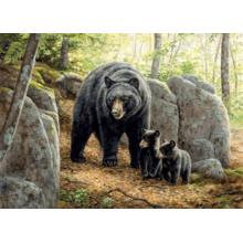 Пазл Cobble Hill, 1000 элементов - Медведица с медвежатами