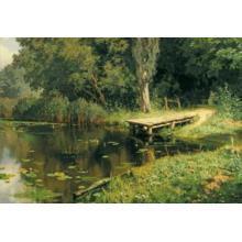 Пазл Stella, 1500 элементов - Поленов В.Д.: Заросший пруд