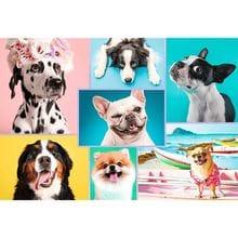 Пазл Trefl, 1500 элементов - Милые собачки, коллаж