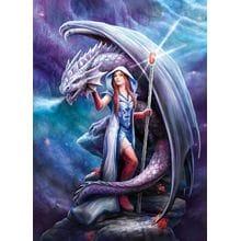 Пазл Clementoni, 1000 элементов - Anne Stokes: Дракон и маг