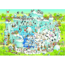 Пазл Heye, 1000 элементов - Degano: Полярный зоопарк