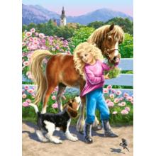 Пазл Castorland, 60 элементов - Прогулка с пони