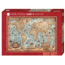 Пазл Heye, 2000 элементов - Старая карта