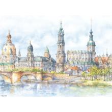 Пазл Adex, 1000 элементов - Дрезден, Вид на канал, Alicja Nikiel