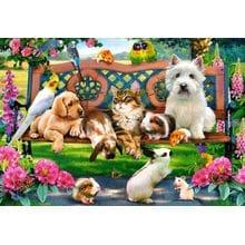 Пазл Castorland, 1000 элементов - Домашние животные в парке
