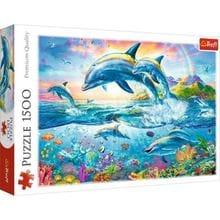 Пазл Trefl, 1500 элементов - Семья дельфинов