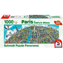 Пазл Schmidt, 1000 элементов - Хартвиг Браун: Панорама города - Париж