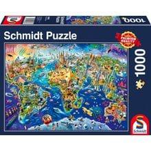 Пазл Schmidt, 1000 элементов - Путешествуя по миру