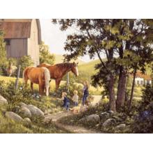 Пазл Cobble Hill, 500 элементов - Деревенские лошади