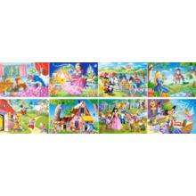 Комплект из 16 пазлов Castorland по 80 элементов - Сказки