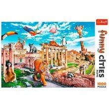 Пазл Trefl, 1000 элементов - Веселые города - Дикий Рим