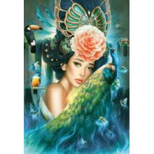 Пазл Castorland, 1000 элементов - Дама с павлином