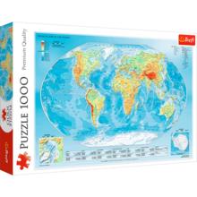 Пазл Trefl, 1000 элементов - Физическая карта мира