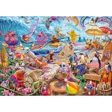 Пазл Schmidt, 1000 элементов - Ст.Сандрам: Пляжная мания-коллаж