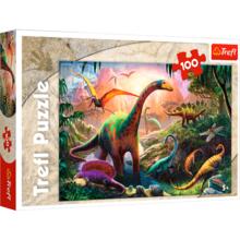 Пазл Trefl, 100 элементов - Мир динозавров