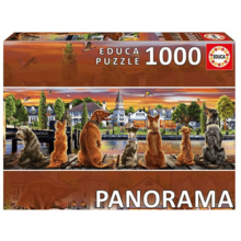 Пазл Educa, 1000 элементов - Собаки на набережной панорама