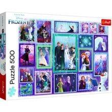 Пазл Trefl, 500 элементов - Frozen 2 - коллаж