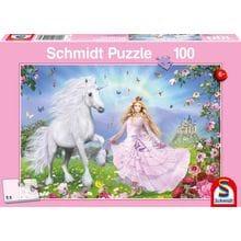 Пазл Schmidt, 100 элементов - Принцесса с единорогом