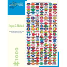 Пазл Pomegranate, 1000 элементов - Гр. Блэксток: Красочные яичные узоры
