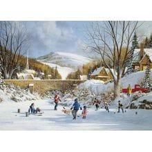 Пазл Cobble Hill, 1000 элементов - Хоккей на замерзшем озере