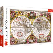 Пазл Trefl, 2000 элементов - Карта новых земель и морей, 1630