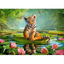 Пазл Castorland, 300 элементов - Тигрёнок на лилии