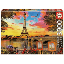 Пазл Educa, 3000 элементов - Закат в Париже