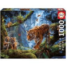 Пазл Educa, 1000 элементов - Тигры на дереве
